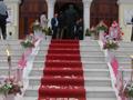 Εξωτερικός στολισμός σε ροζ & λευκό