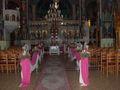 Στολισμός εκκλησίας σε ροζ
